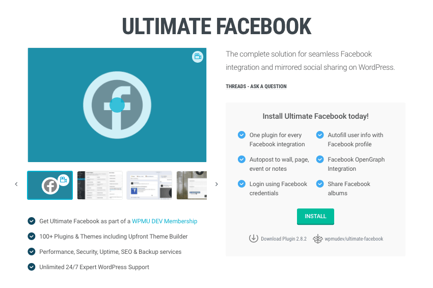 Our Ultimate Facebook plugin provides an easy way for you to add Open Graph tags to your WordPress website.