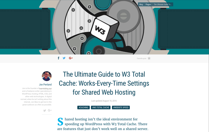 W3 Total Cache isn't exactly the easiest plugin to understand, so we published a four-part series to help you with the settings.