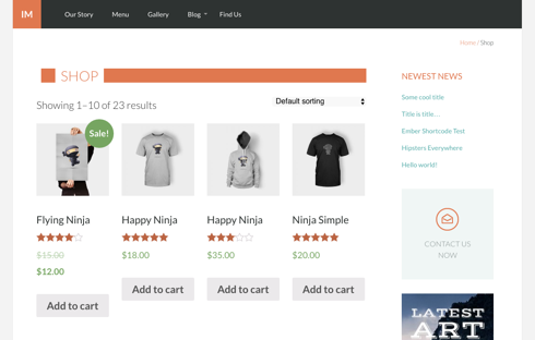 Product listings in your online store could look this good with Upfront's new WooCommerce integration.