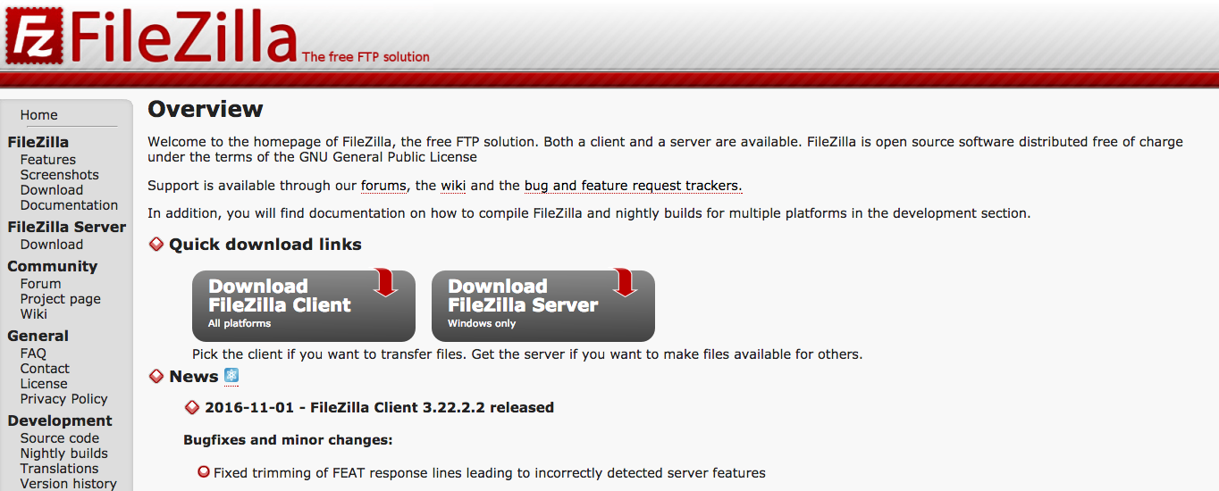 FileZilla is a great, free FTP client.