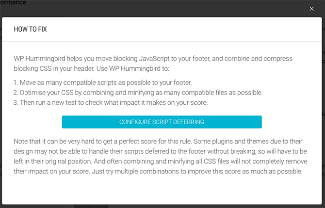 You can configure script deferring across your entire site using Hummingbird!
