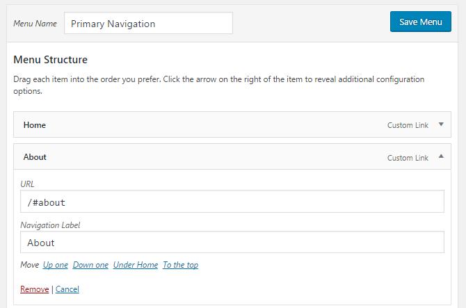 Create custom menu links using IDs.