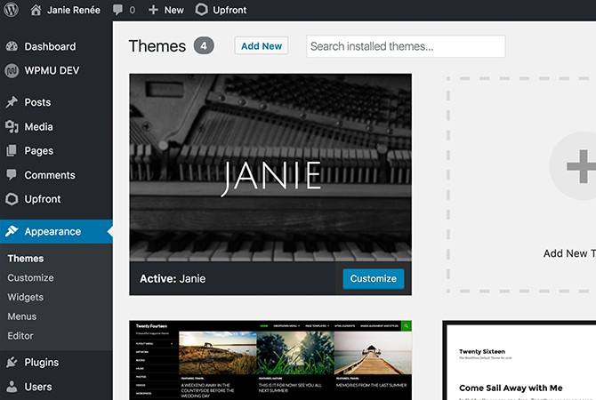 Upload your new theme to any WordPress site.