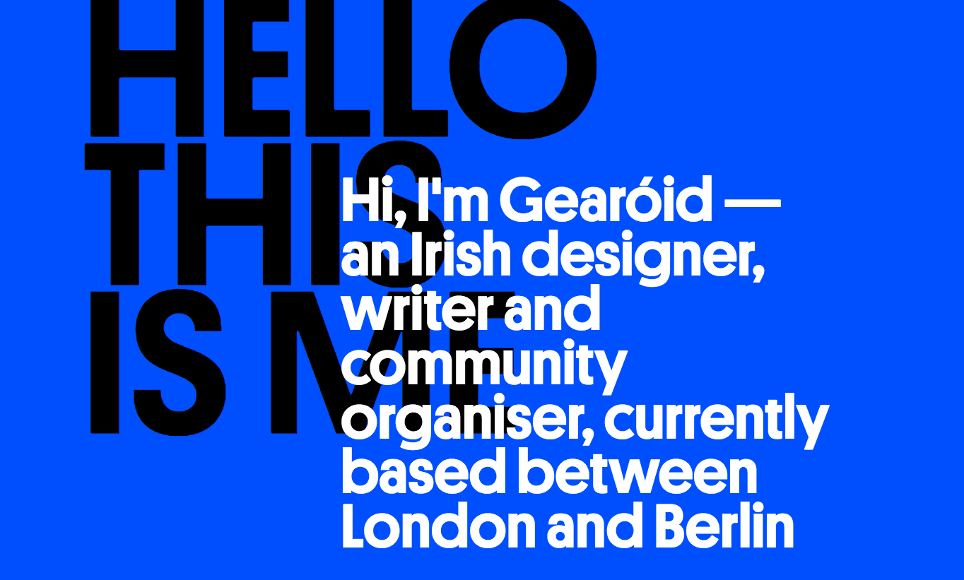 A great example of typography done right, courtesy of gearoid.io