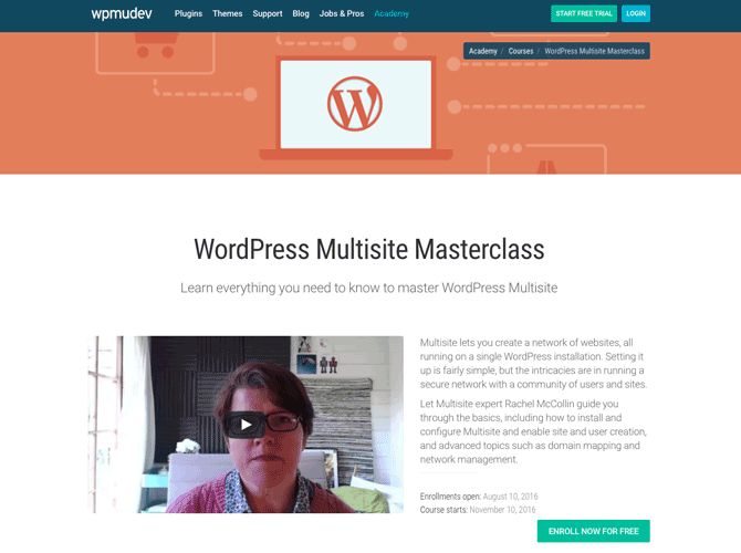 Our popular WordPress Multisite Masterclass is a must if you're interested in setting up a Multisite network.