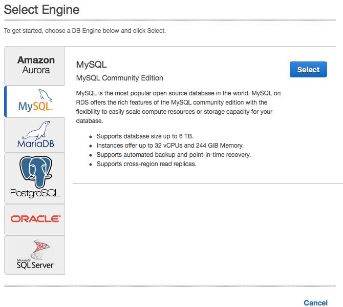 Create a MySQL AWS Instance