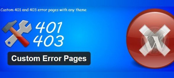 Custom Error Pages plugin
