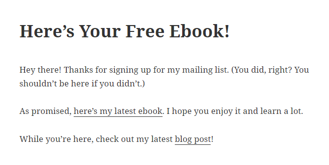 Screenshot of a webpage where an ebook can be downloaded