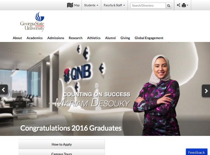 Georgia State University homepage