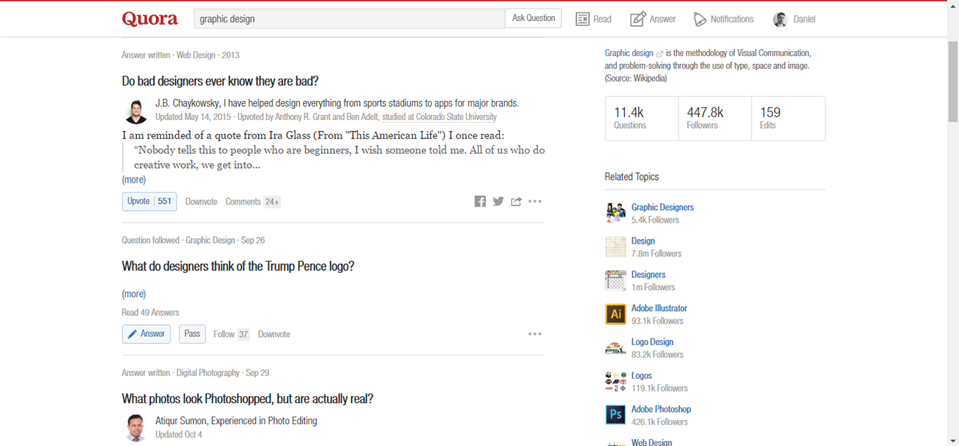Use Quora for research into trending topics.
