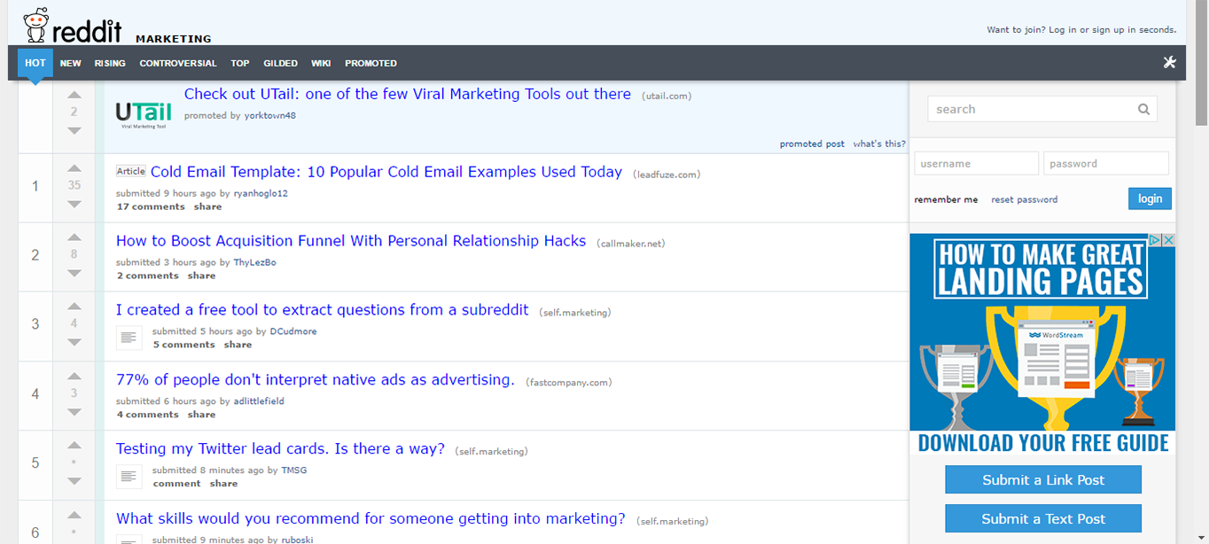 Subreddits can be a great source for blog post inspiration.