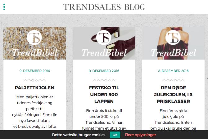 Trendsales website
