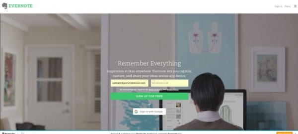 Evernote site