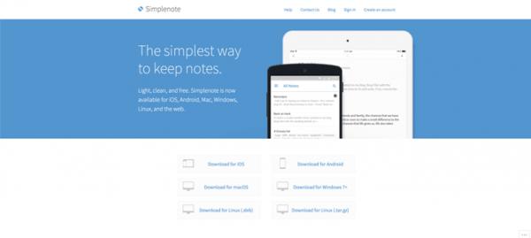 Simplenote site