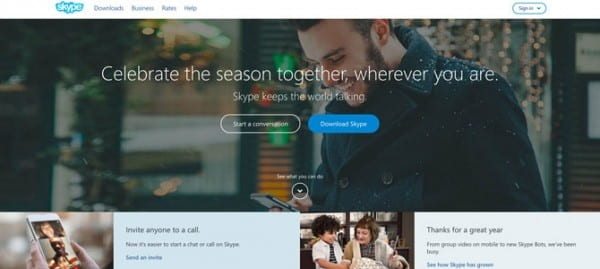Skype site