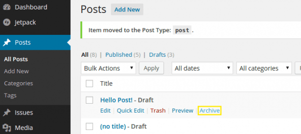 Archive plugin