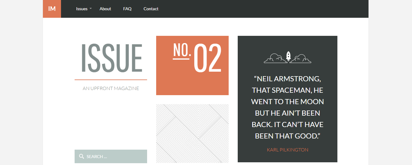 Issue Upfront WordPress Theme
