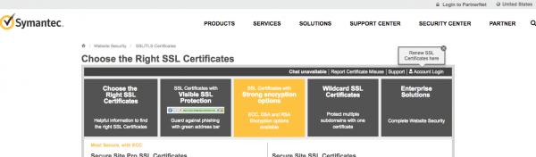 Symantec's SSL page