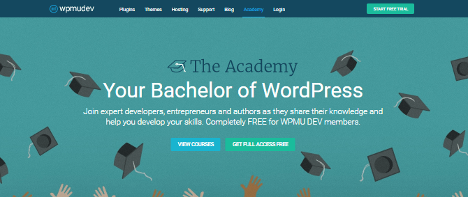 The Academy offers courses in beginner, intermediate and advanced WordPress development, JavaScript, and business and career advice.