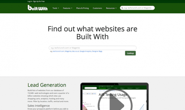 BuiltWith site