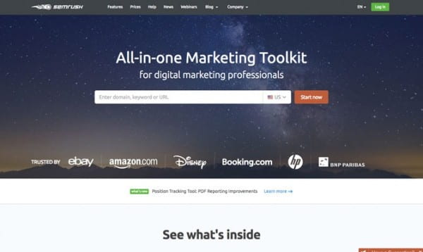 SEMRush site