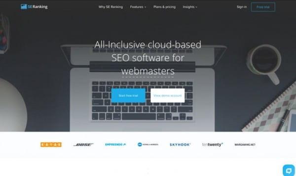 SE Ranking site