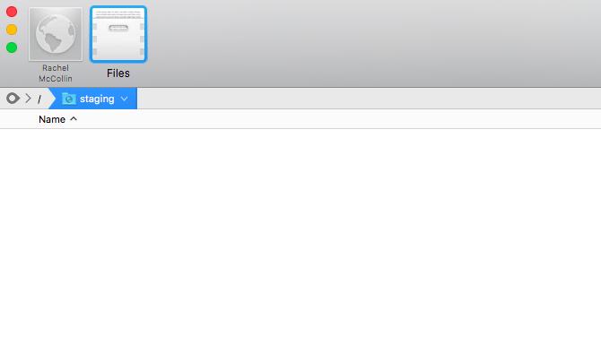 empty staging folder in Coda