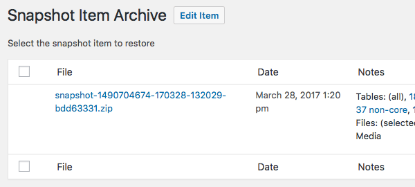 Import archive.