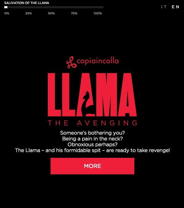 The Llama – and his formiddable spit – are ready to take revenge.