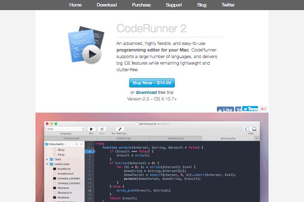 CodeRunner 2's site