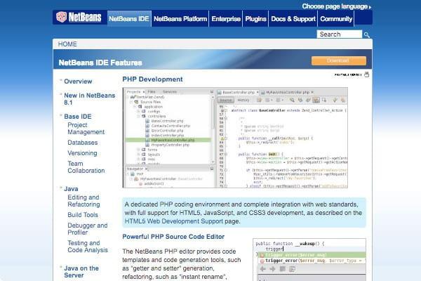 NetBeans's site