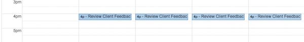 Schedule Client Feedback