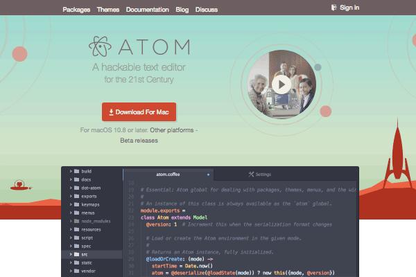 Atom's site