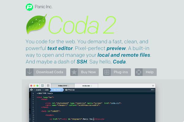 Coda 2's site