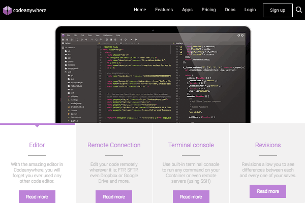 Codeanywhere's site