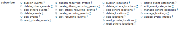 Editing capabilities for events
