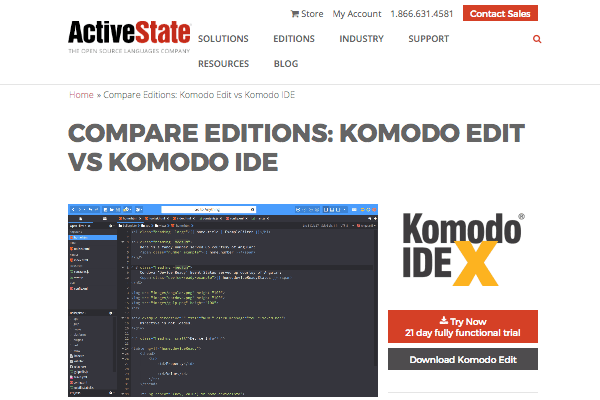 Komodo Edit's site
