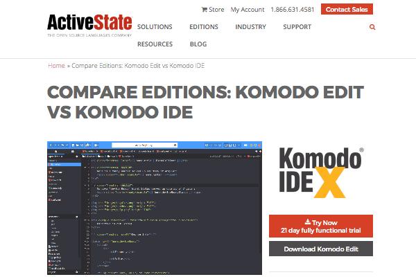 Komodo Edit's site
