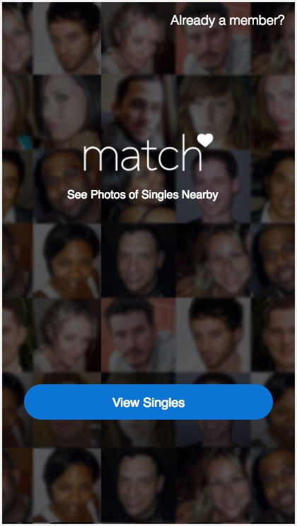 Match.com's CTA clearly wants you to click through to see who's single.