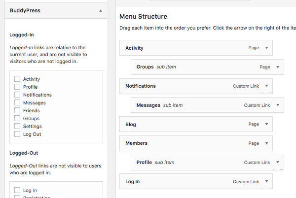 Creating a menu in WordPress