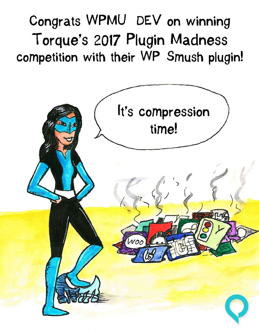 Smush doesn't just crush the competition, it compresses images too!