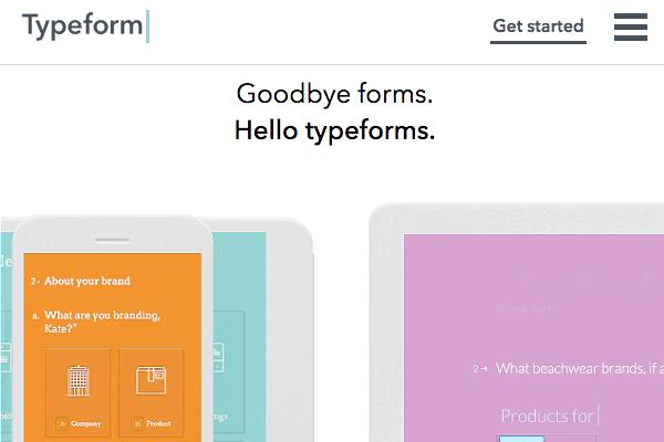 Typeform site