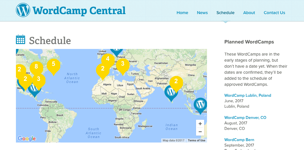Dozens of WordCamps are held around the world each year.