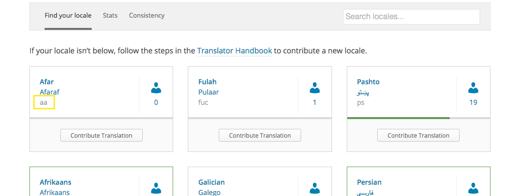 Translating WordPress site