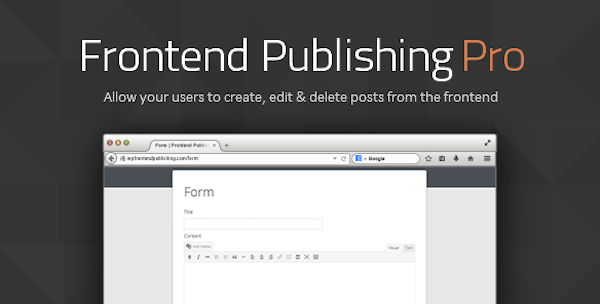 Frontend Publishing Pro plugin