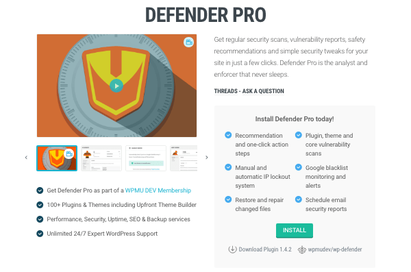 Defender Pro security plugin