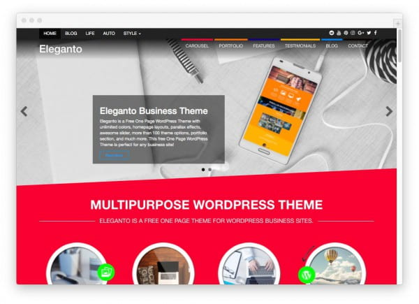 20 free high quality wordpress themes worth checking out in 2017 despite its name eleganto is neither graceful or stylish but it does have a slick design suited for businesses the homepage is easily customizable and friedricerecipe Image collections
