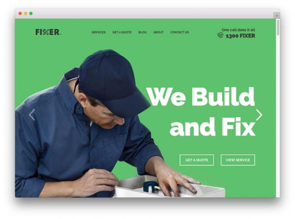 Fixer WordPress theme