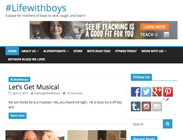 Hasta Life with Boys website