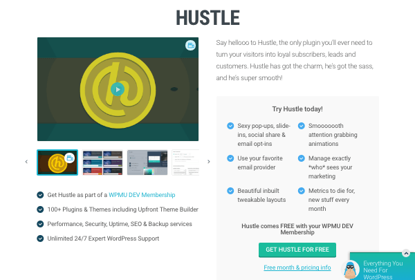 Hustle plugin